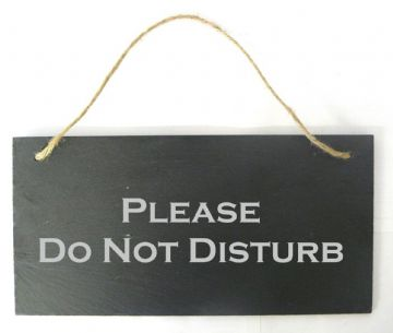 'Please Do Not Disturb' Hanging Slate Sign